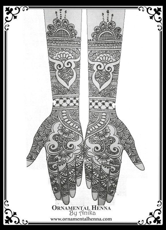 Bridal Henna Sketch Www Ornamentalhenna Com Bridal Henna Designs