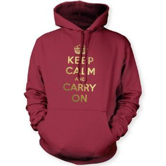 I just heard the story about this saying from the famous British WWII poster and then came across this neat sweater.