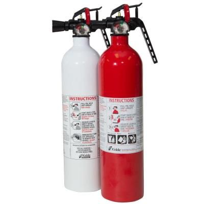 Kidde Recreation 1a10bc Fx And Kitchen 711a Fx Fire Extinguisher Value Pack 21025985n The Home Depot Fire Extinguisher Extinguisher Diy Repair