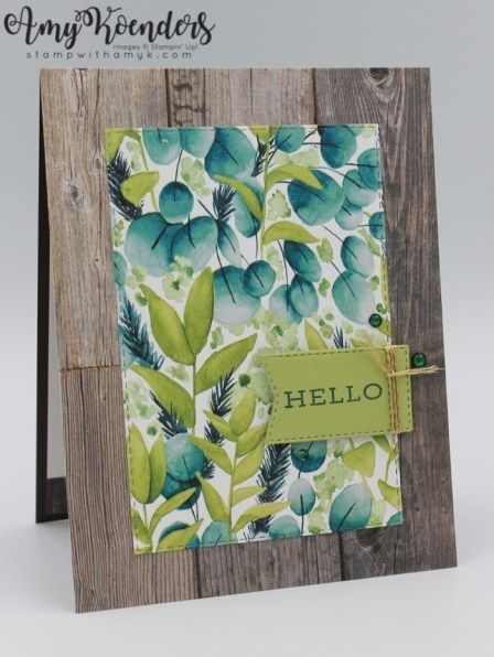 Stampin' Up! Forever Fern Hello Card For Fab Friday