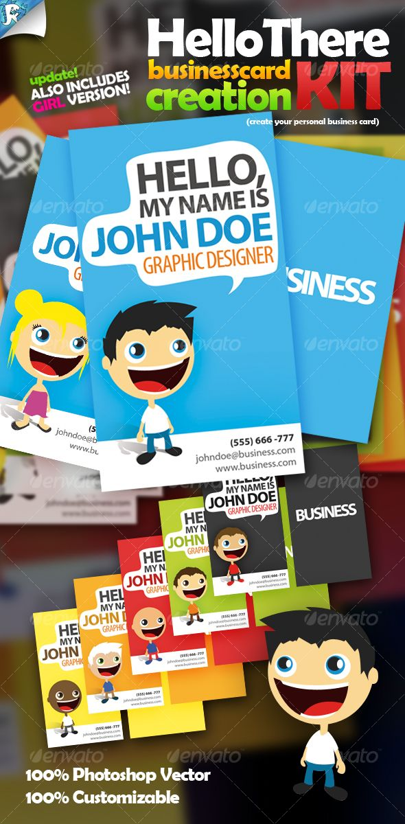 Complete Business Card Kit Here Graphicriver Item Hello There Creation 116912 S Rank 5 Ref Cliccme