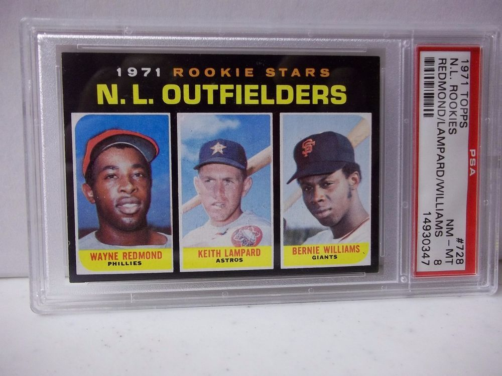 1971 topps n l rookies psa graded nmmt 8 baseball card