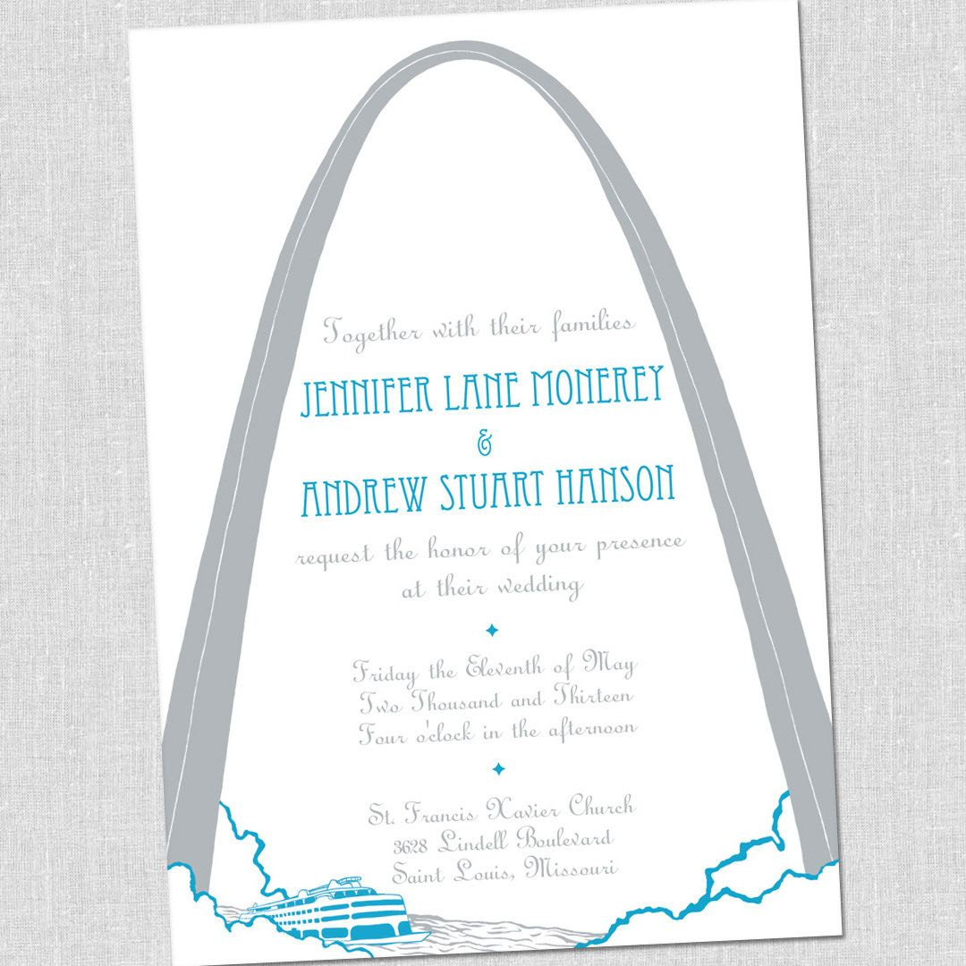 Unique St Louis Wedding Invitations Set Sample By