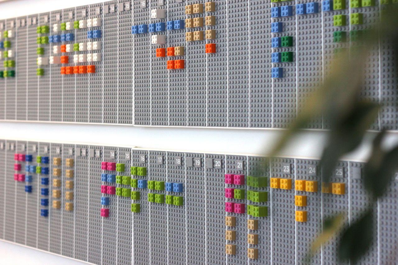 Lego May 2022 Calendar.A Wall Mounted Calendar Made From Lego Bricks Lego Wall Lego Calendar Wall Planner