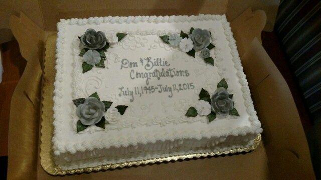 Beautiful Cake, 70th Anniversary Color: Platinum