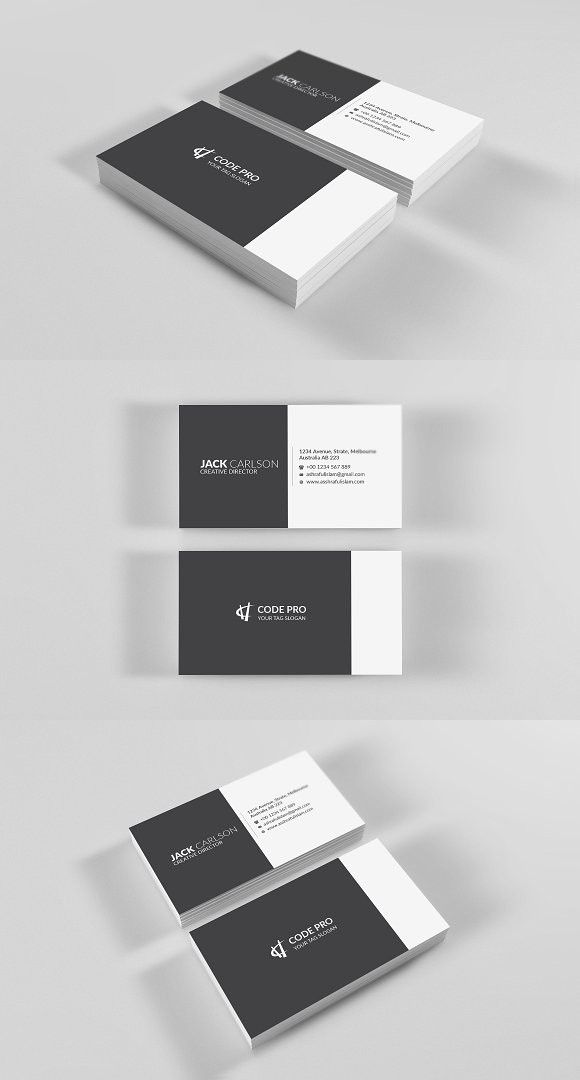 Simple Business Card | Business Card Templates | Pinterest | Simple ...