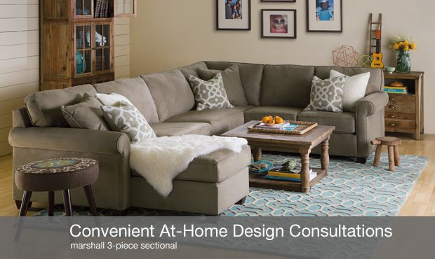 Marshall sectional with chaise boston interiors