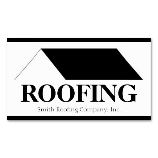 Roofer Roofing Contractor Company Business Card Zazzle Com Company Business Cards Roofing Roofer