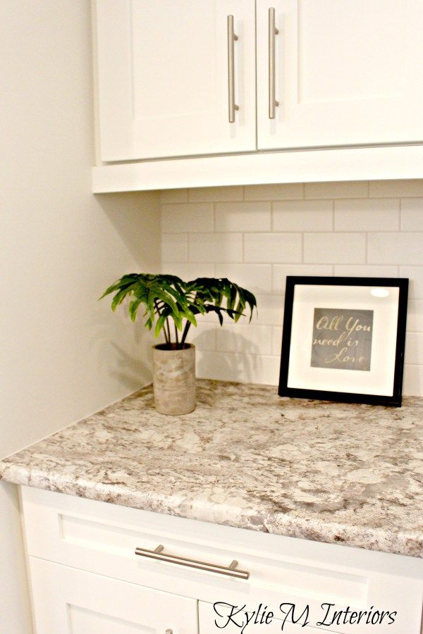 Exceptional Laminate Countertops And Backsplash Ideas Part - 14: Typhoon Bordeaux Laminate Countertop, Budget Friendly Kitchen Update Idea  With A Subway Tile Backspash And