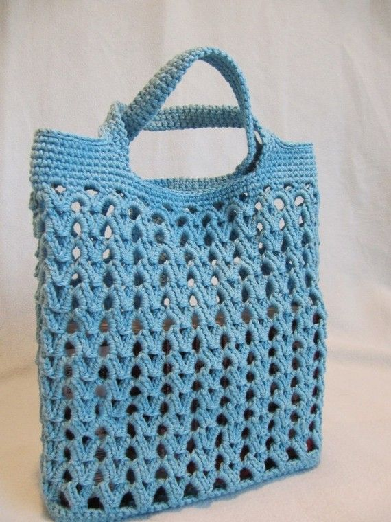 Crochet Floral Beach Bucket Bag from Bags-Purses-Totes.com -