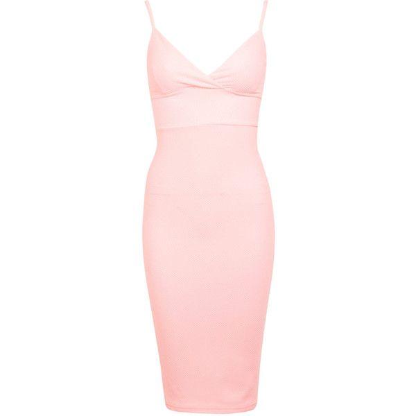 Miss Selfridge Waffle Bra Dress ($49) ❤ liked on Polyvore featuring ...