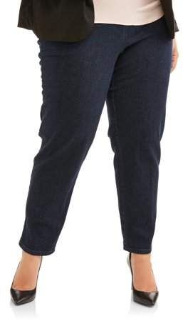 04392200a8b Just My Size Women s Plus-Size 2-Pocket Pull-On Stretch Woven Pants ...