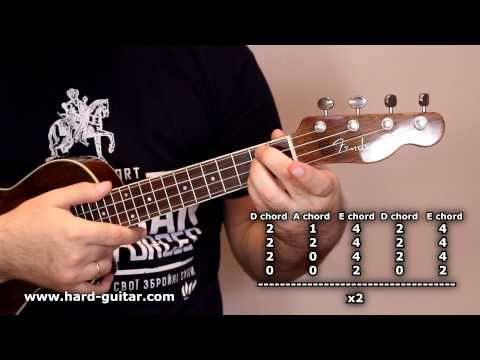 Acdc Back In Black Ukulele Lesson How To Play Tutorial With Tabs
