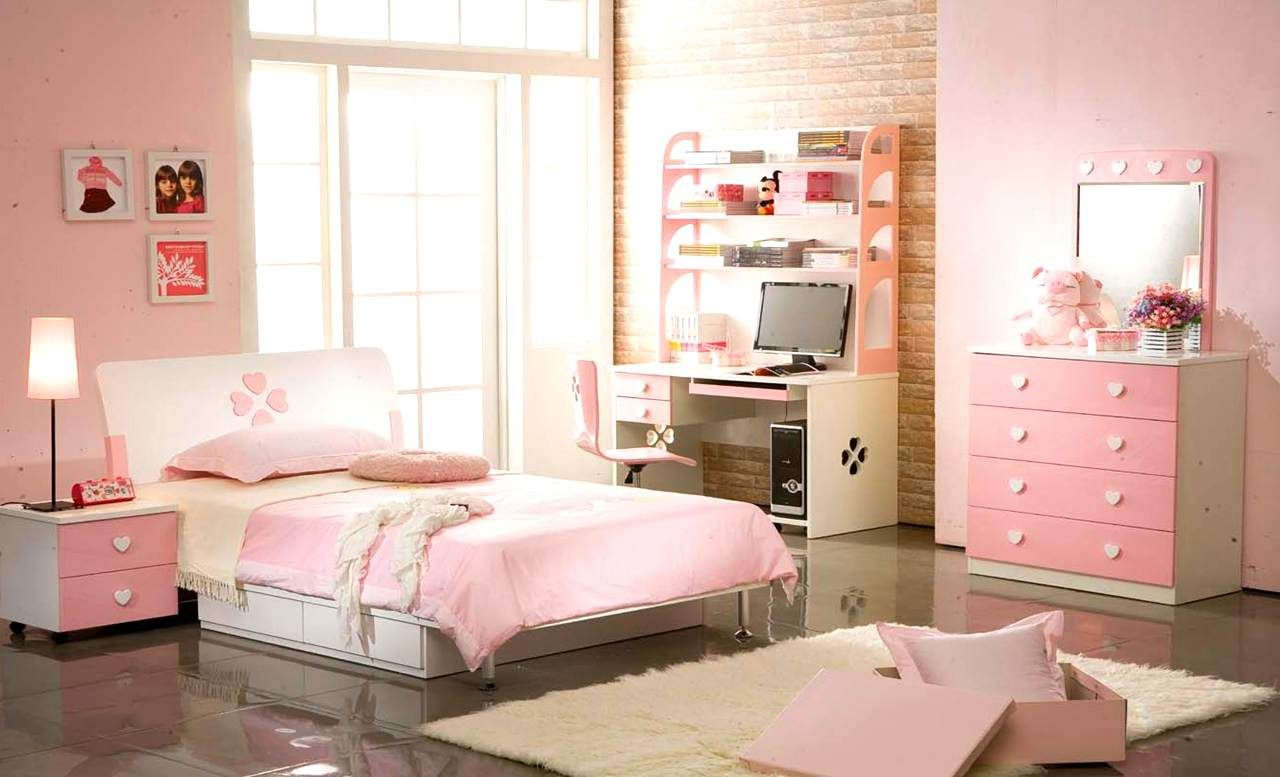 Cute teenage girl room ideas pink there are numerous for Cute bedroom designs for small rooms