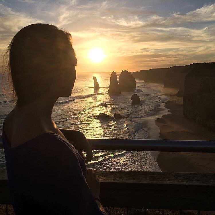 Social Nomad @jessicaganaden soaking in the sun and the views at the #twelveapostles about a 3 hour drive outside of #Melbourne #australia. We also want to wish her and @lewisjamesnewman luck on their current adventures to India!