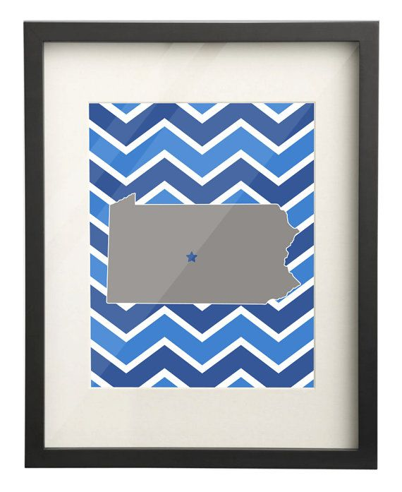 Penn State University Pennsylvania State Map 8x10 by PaperFreckles, $15.00