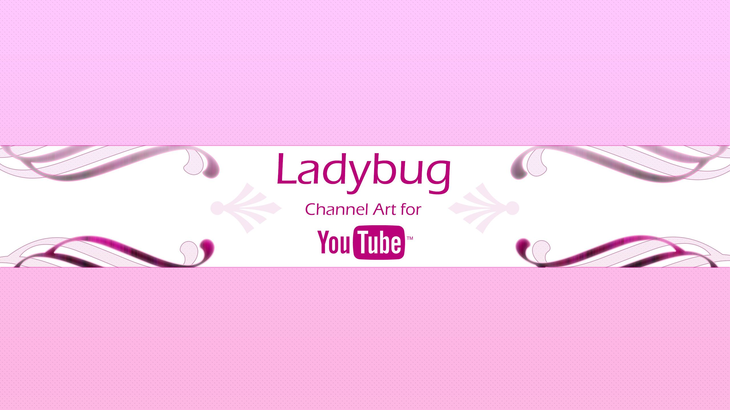 Ladybug youtube channel art template custom page templetes ladybug youtube channel art template custom page pronofoot35fo Images