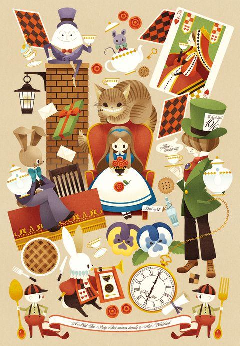 終わらないお茶会 0313 のイラスト Pixiv イラスト ディズニーのクロスオーバー作品 アリス