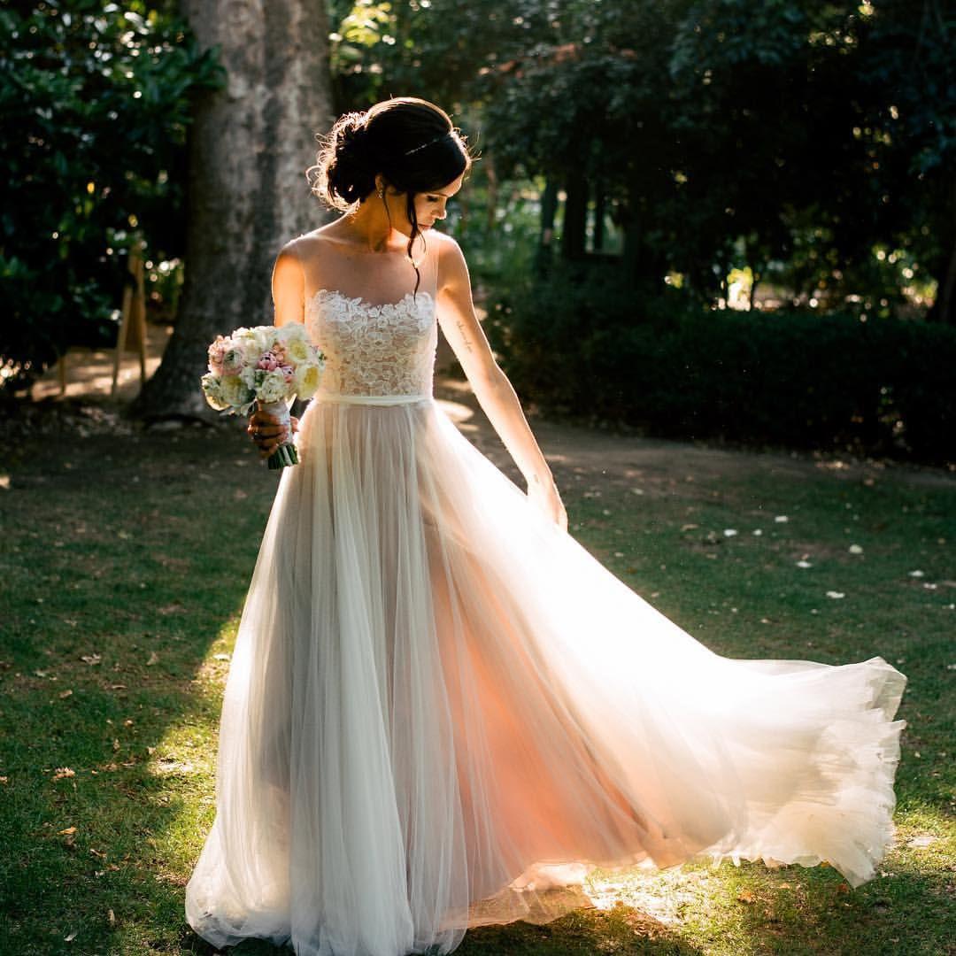 "Night Beach Wedding Ceremony Ideas: BHLDN Weddings On Instagram: ""#BHLDNbride Katie Married"