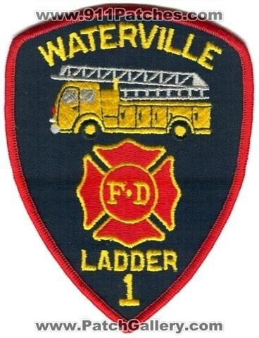 Waterville Fire Department Ladder 1 Patch Maine ME