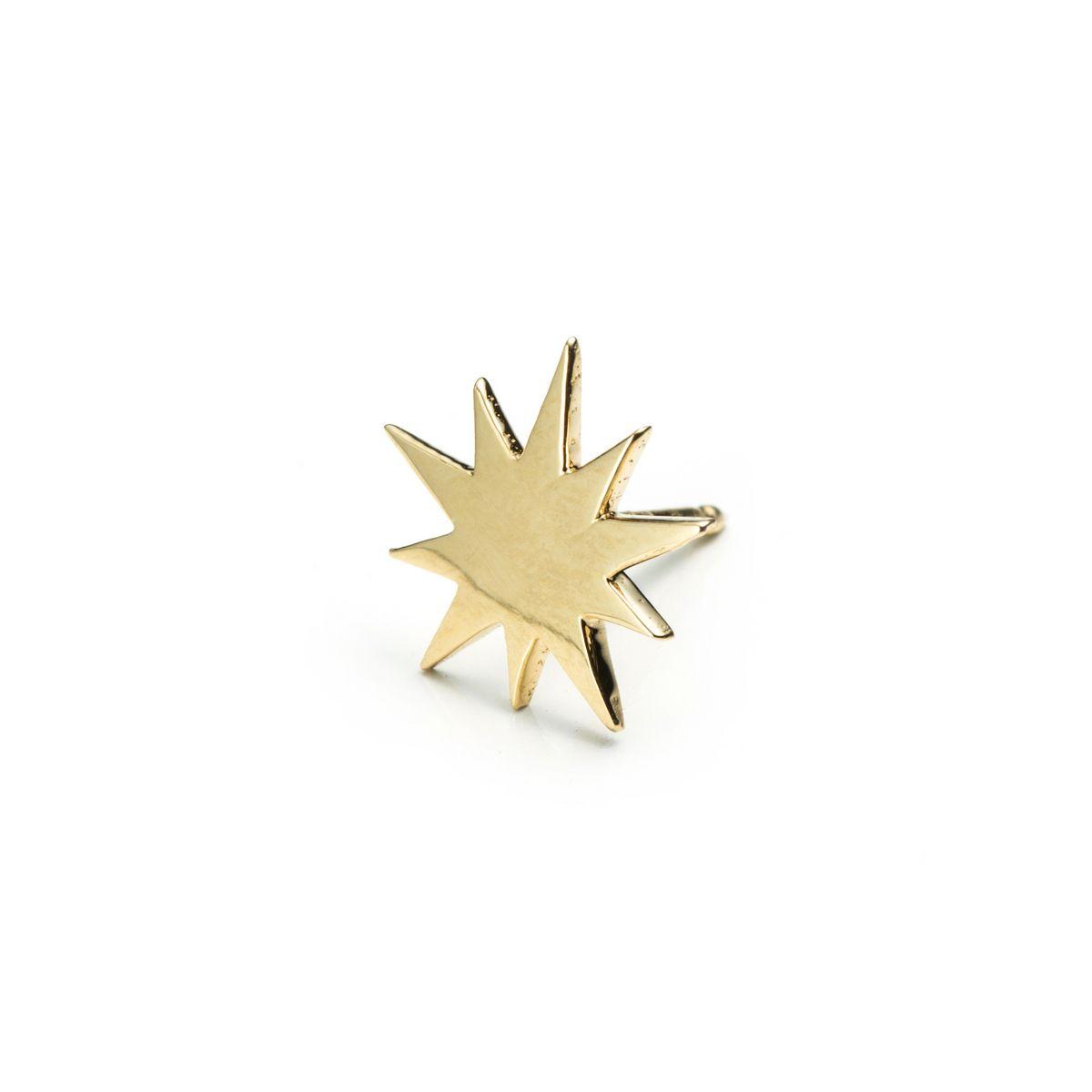 Lulu Frost Code 14 Kt Star Earring in Gold