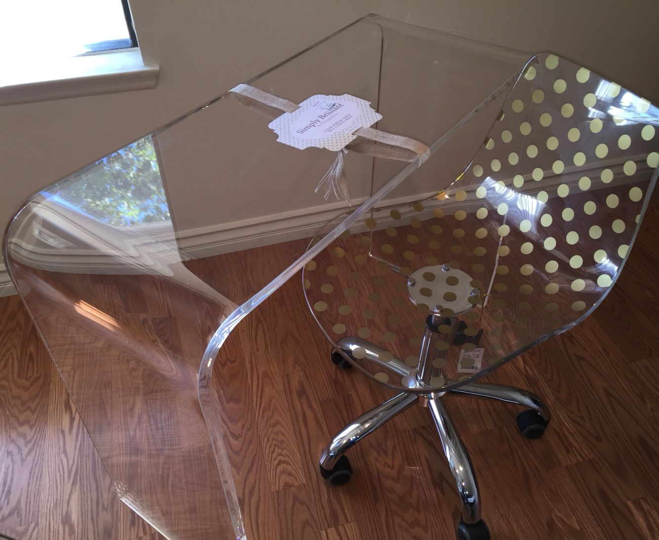 HomeGoods Finds! Acrylic Console Desk by Simply Brilliant ...