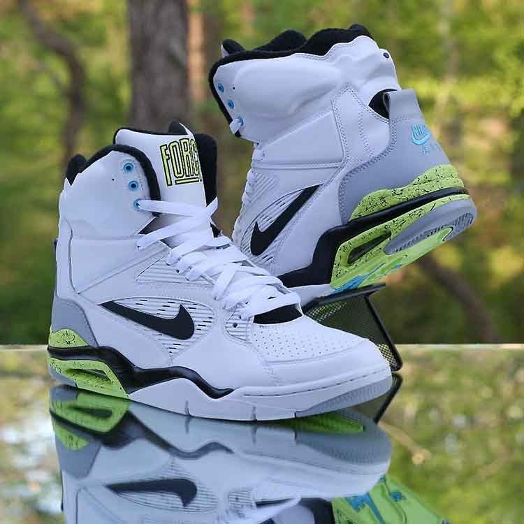 53a5ad3be223 Nike Air Command Force Billy Hoyle White Wolf Grey Volt Black 684715-102  Size 10  Nike  AthleticSneakers