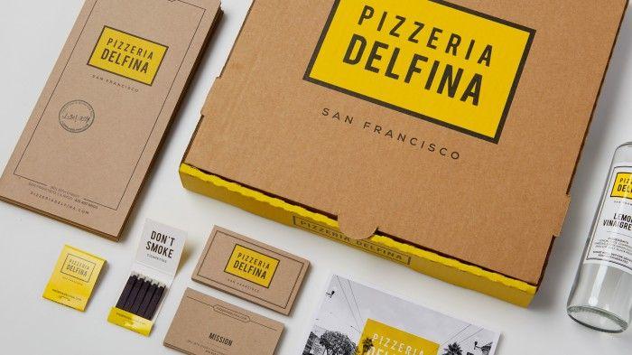 Pizzeria Delfina restaurant branding by Character.
