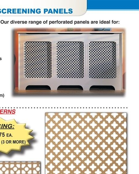 Decorative Mdf Screen Panels Grill Radiator Cover Though Not