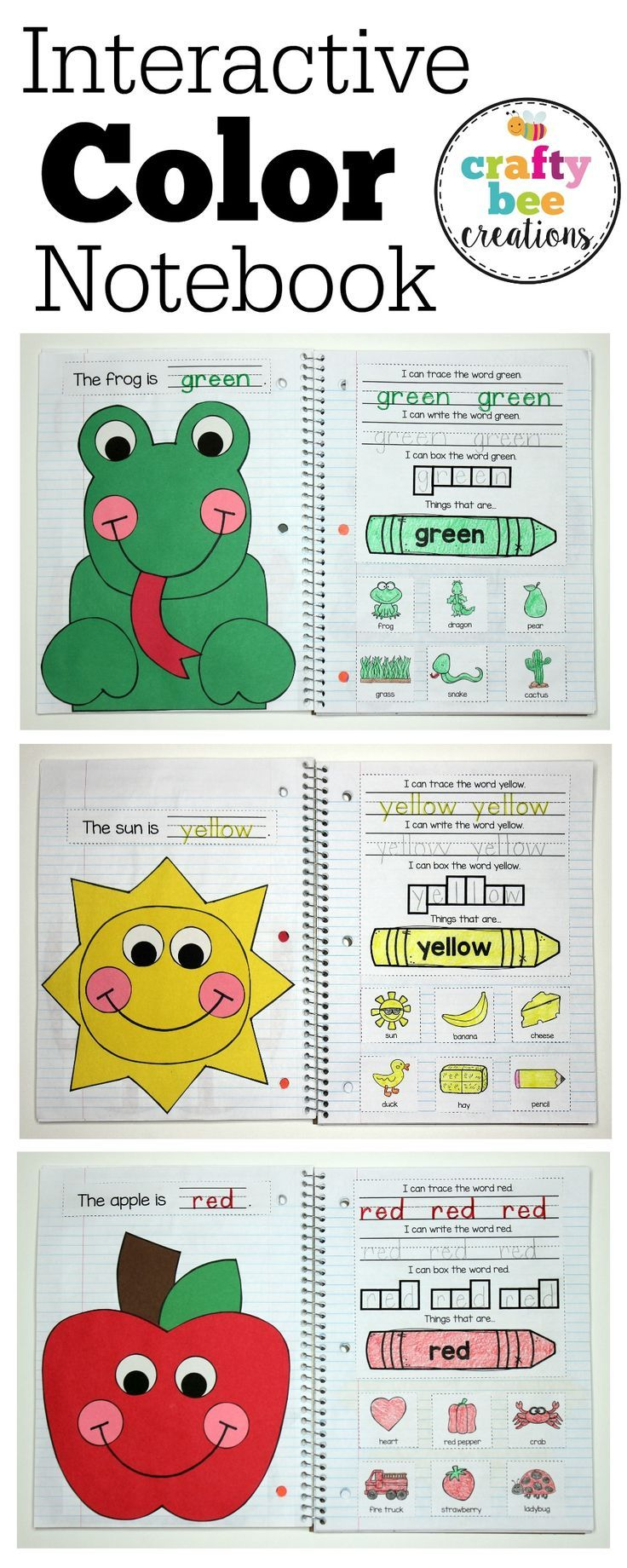 This is an Interactive Color Notebook that has crafts, writing, and color recognition for 11 different colors.  Makes for a great end of the year piece!