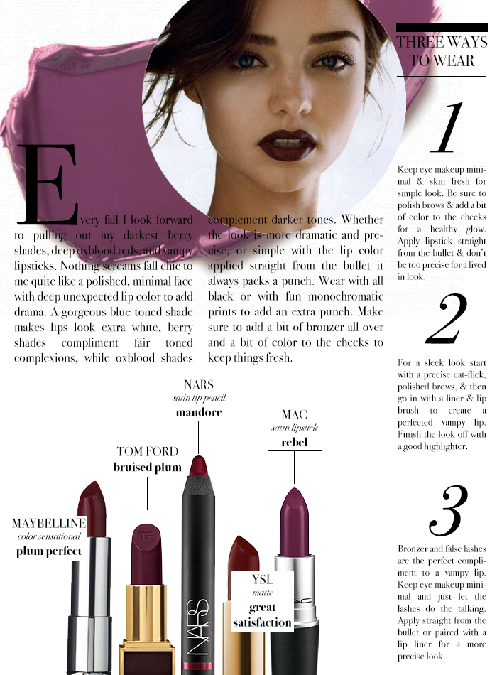 that's just fabulous: The Vampy Lipstick How To http://www.thats-just-fabulous.com/2015/09/how-to-wear-dark-lipstick.html?utm_content=buffer9f49a&utm_medium=social&utm_source=pinterest.com&utm_campaign=buffer | beautyluxelife