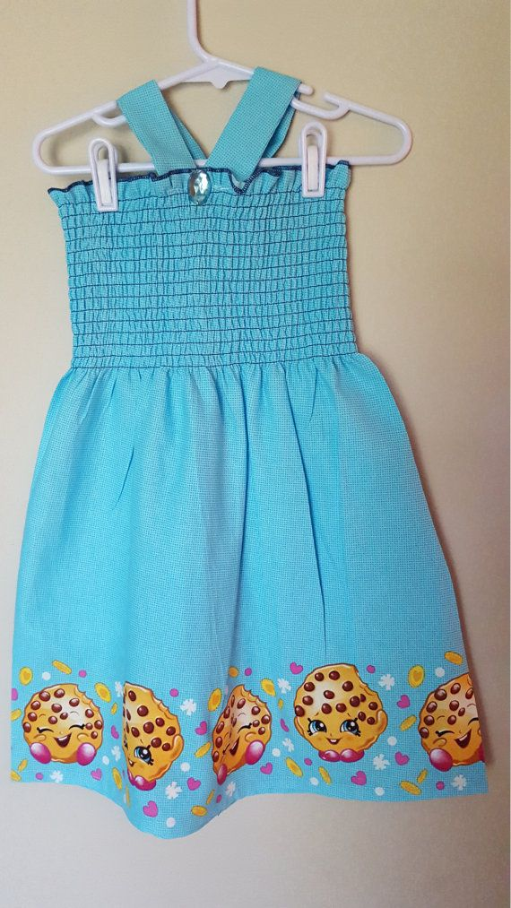 blue shopkins sundress cute girls birthday dress macy pinterest
