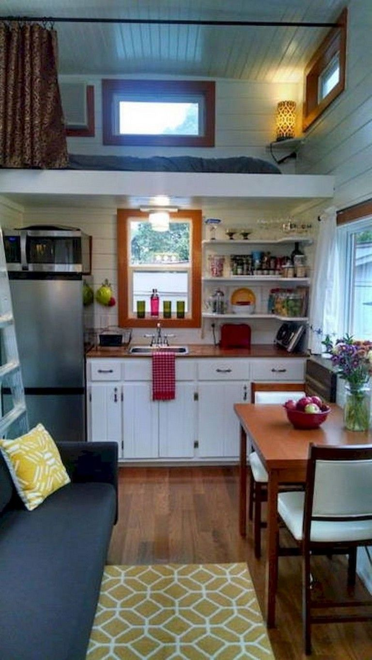 44+ Magnificent Tiny House Kitchen Maximize Space Ideas #tinyhousekitchens
