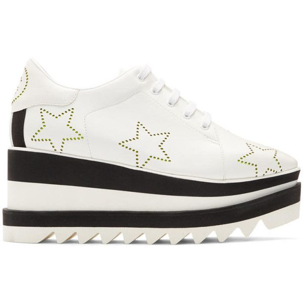 51ae7aad55c4 Stella McCartney White Sneak-Elyse Stars Sneakers (18.635 UYU) ❤ liked on  Polyvore featuring shoes