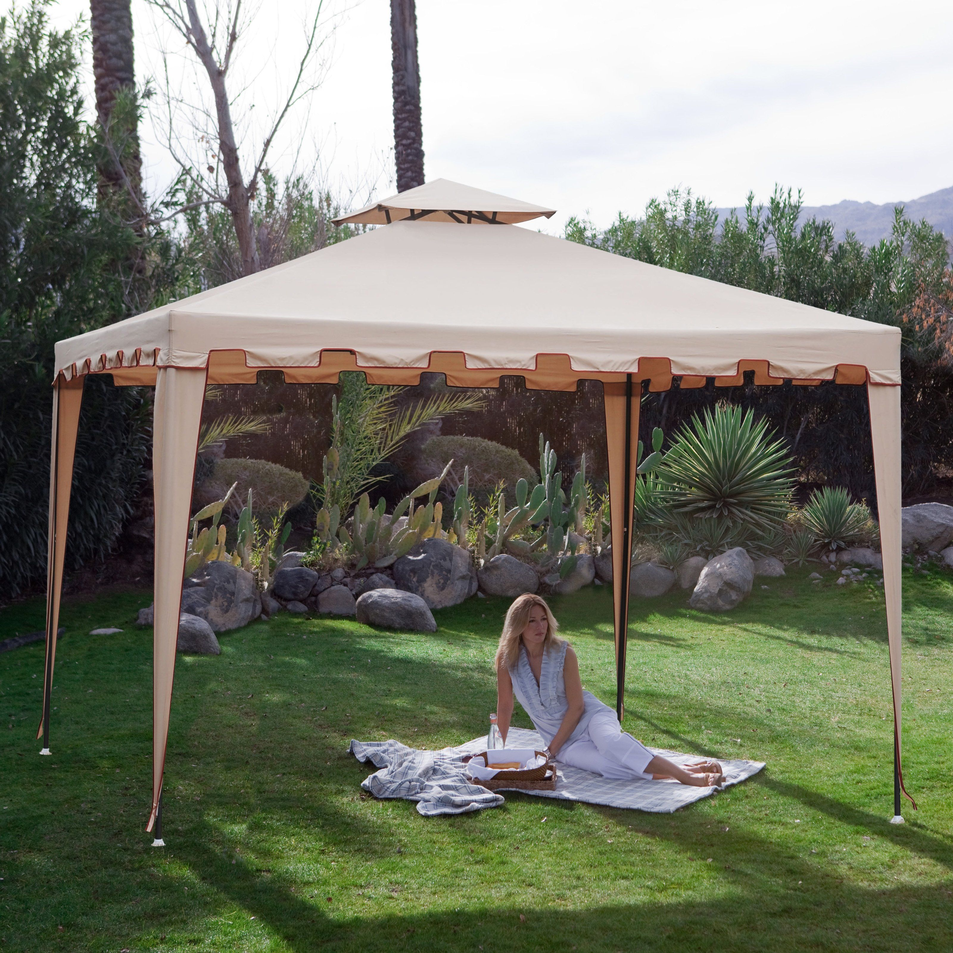 have to have it backyard festival 10 x 10 ft gazebo canopy