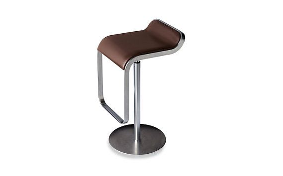The Lem Piston Stool With Leather Seat A Modern That Swivels And Adjusts From Counter To Bar Height Combining Utility Visual Lightness