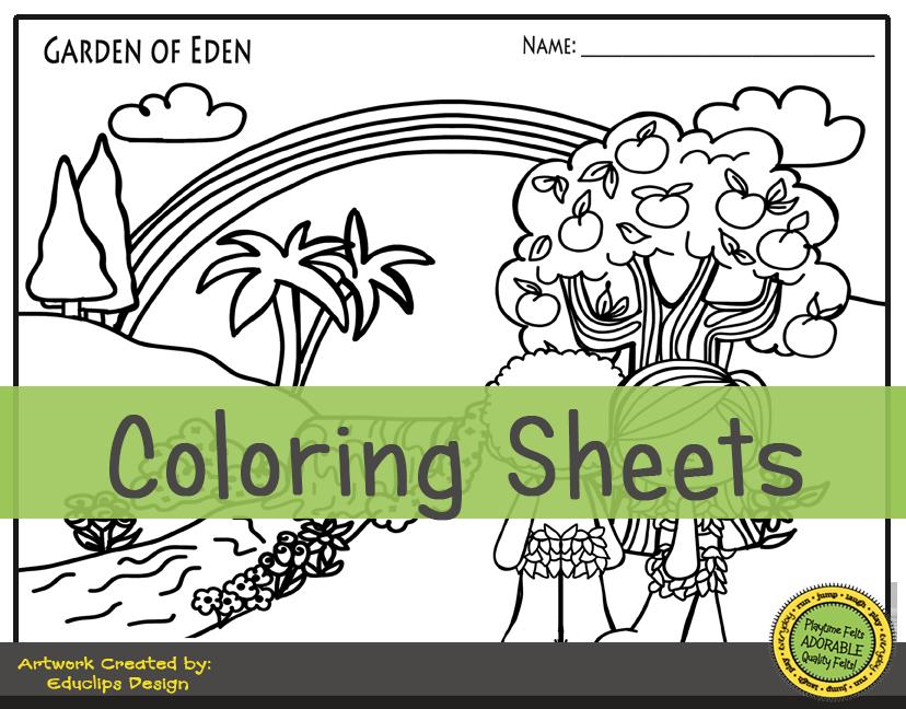 Garden Of Eden Storytime Activities For Preschool Letter Sort Garden Of Eden Word Cards