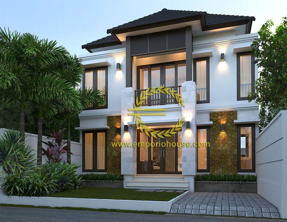 Desain Rumah 2 Lantai 3 kamar Lebar Tanah 9 meter dengan