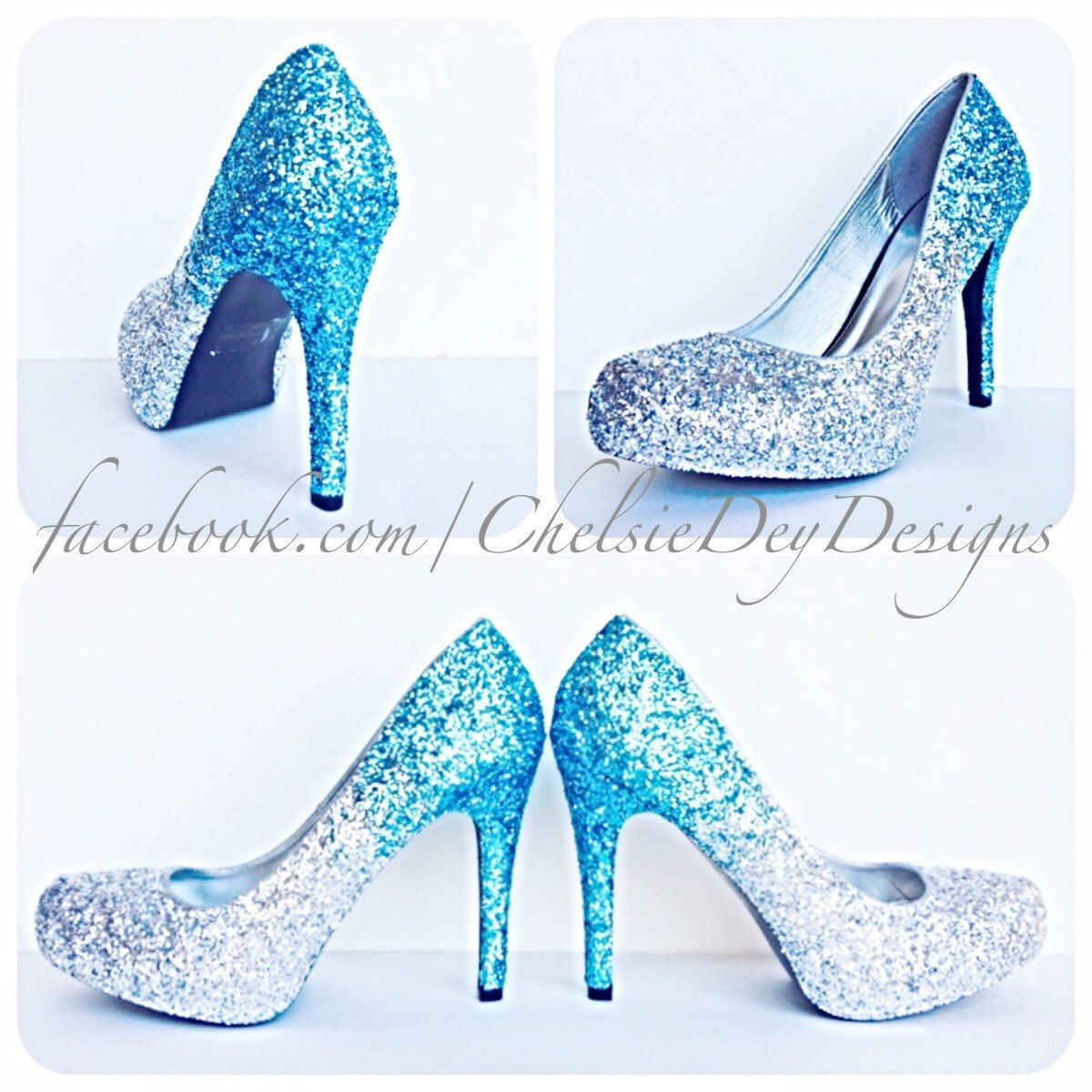 Glitter High Heels - Blue and Silver Pumps -Aqua Turquoise Ombre Platform  Shoes - Fade Two Tone Heels - Sparkly Glitzy Wedding Heels - pinned by  pin4etsy. ... b83740bf065d