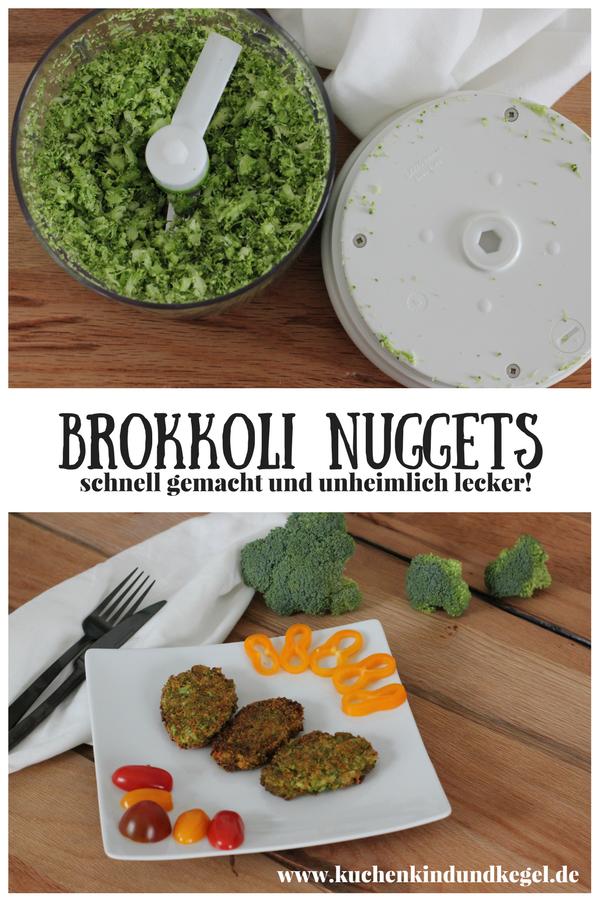 Kochen mit Kindern - Brokkoli Nuggets (vegan) -