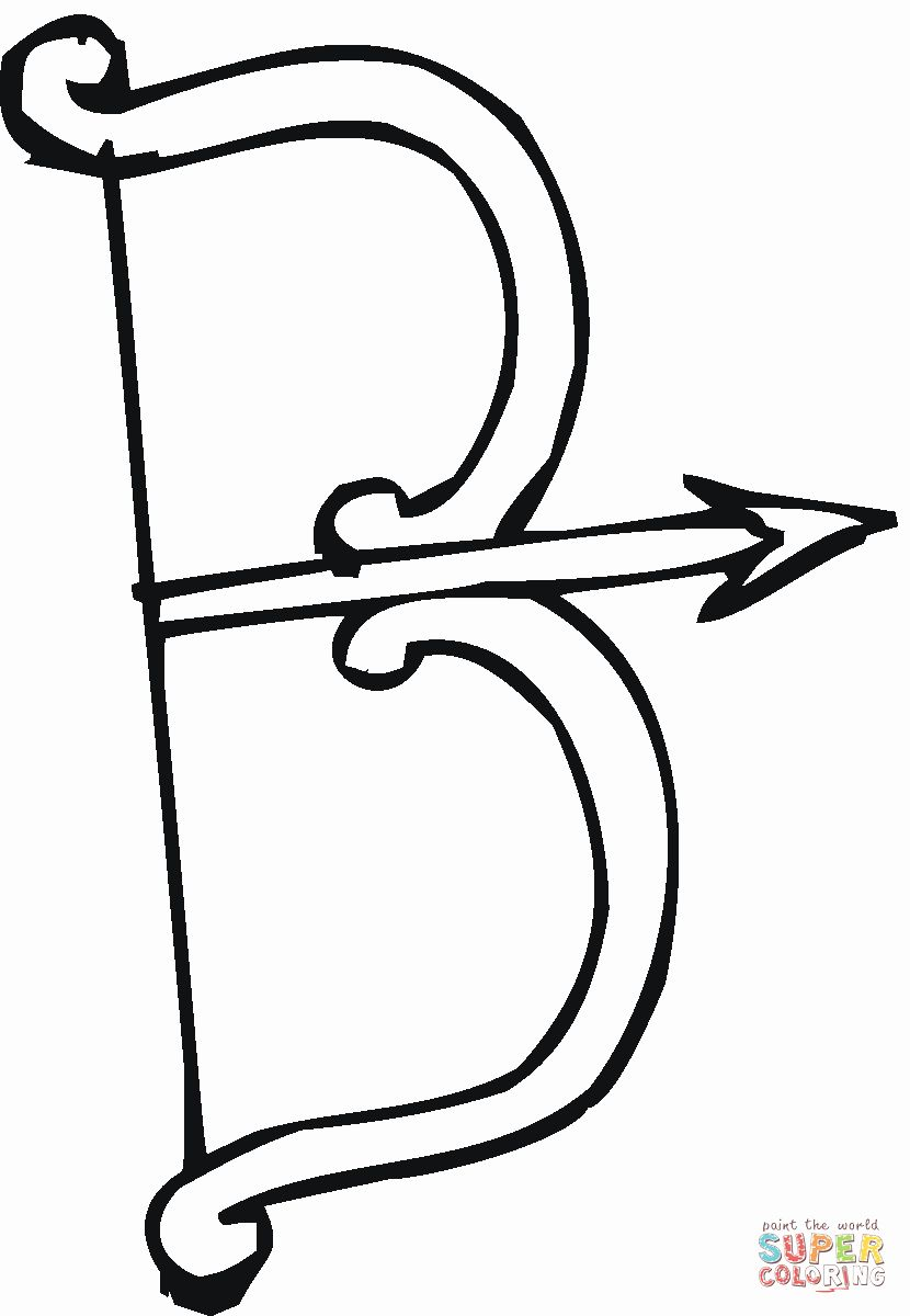 Bow And Arrow Coloring Page New Letter B Is For A Bow Coloring