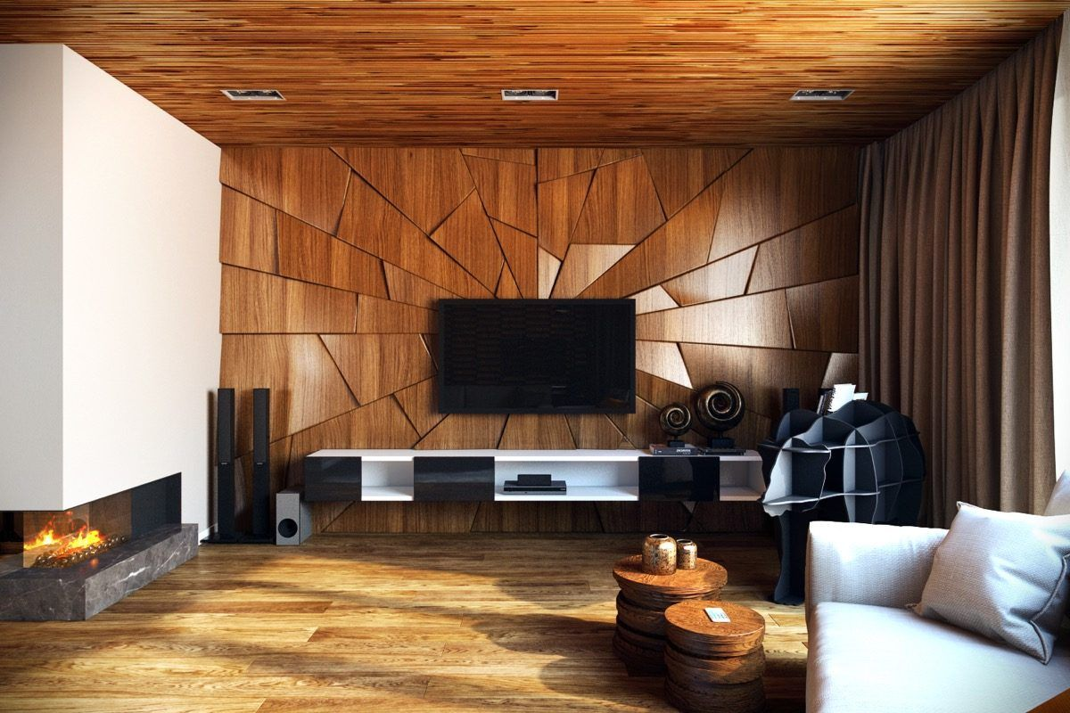 Living Room Wooden Wall Art And Decor White Elegant Sofa Furniture
