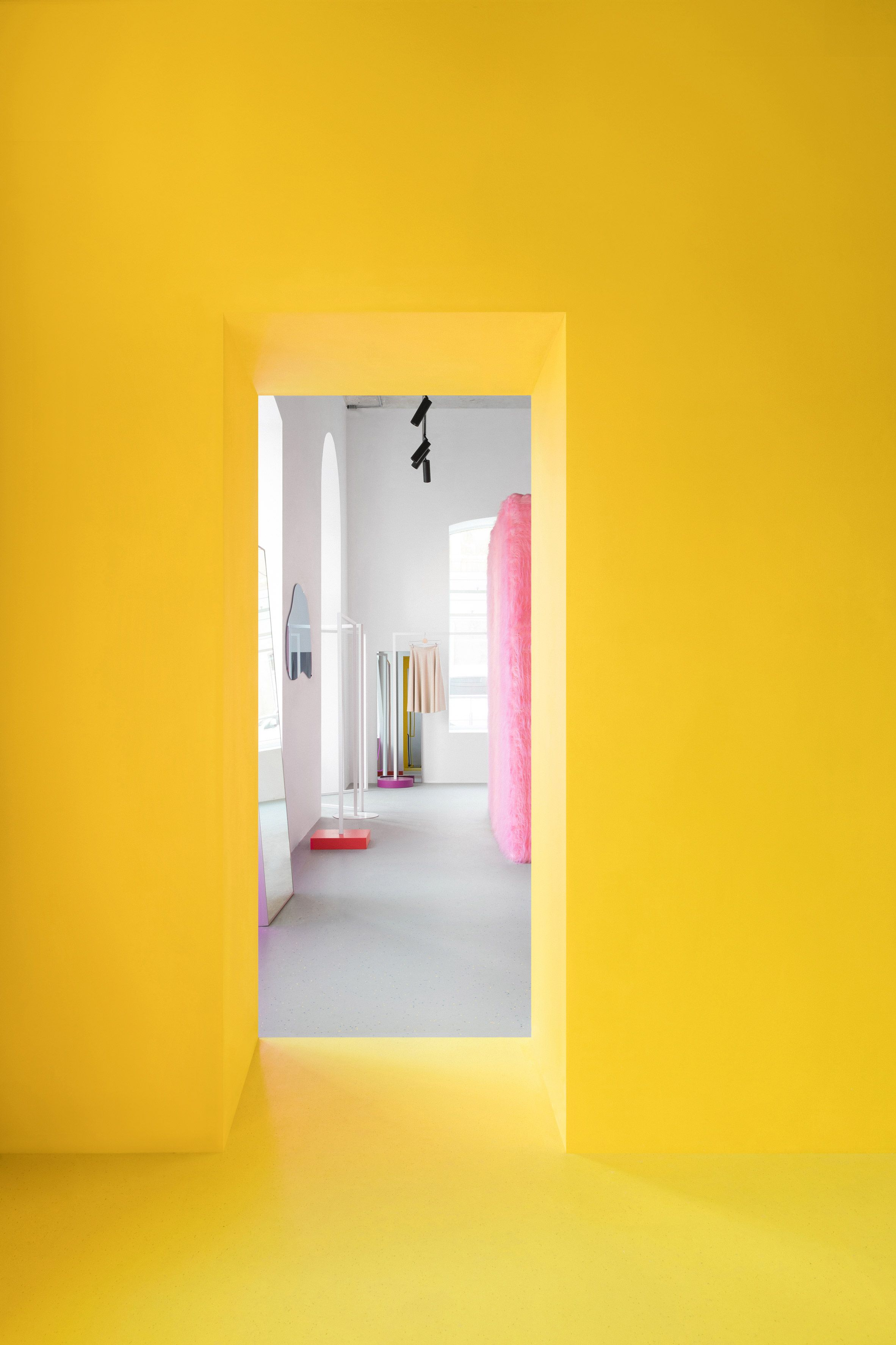 Pink furry changing rooms and bright yellow walls feature in Eduard ...