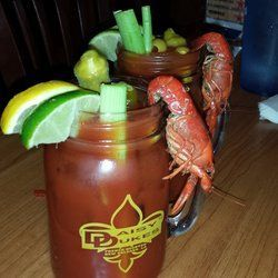 Louisiana bloody mary (crawfish and pickled okra)