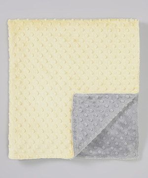 6e185cd315 Love this Lolly Gags Pale Yellow   Silver Minky Dot Blanket by Lolly Gags  on  zulily!  zulilyfinds