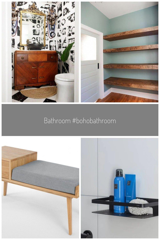 Bathroom Bohobathroom Badezimmer Stauraum Wand Boho Badezimmer