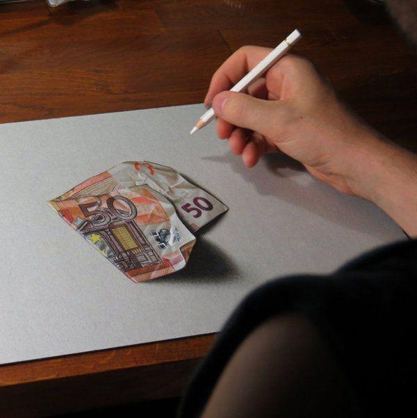 Dibujos Realistas Que Parecen Salirse Del Papel Dibujos Realistas Lapices De Colores Dibujos Dibujos