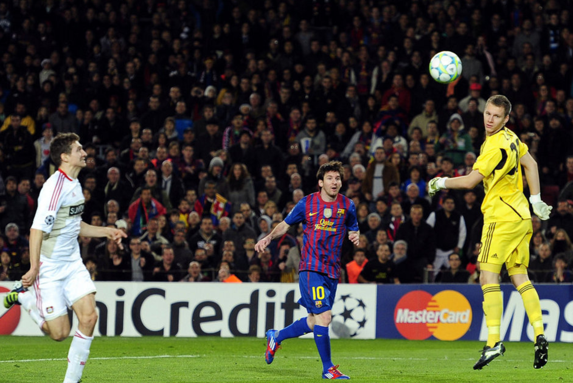 messi scoring against leverkusen 2012