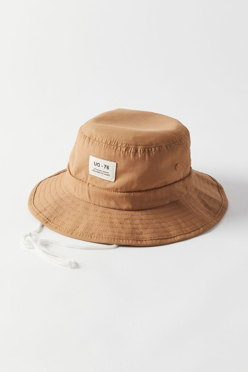 Uo Safari Drawstring Bucket Hat Fischerhut