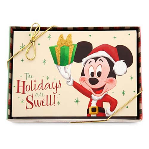 your wdw store disney christmas cards retro mickey happy holidays 2014